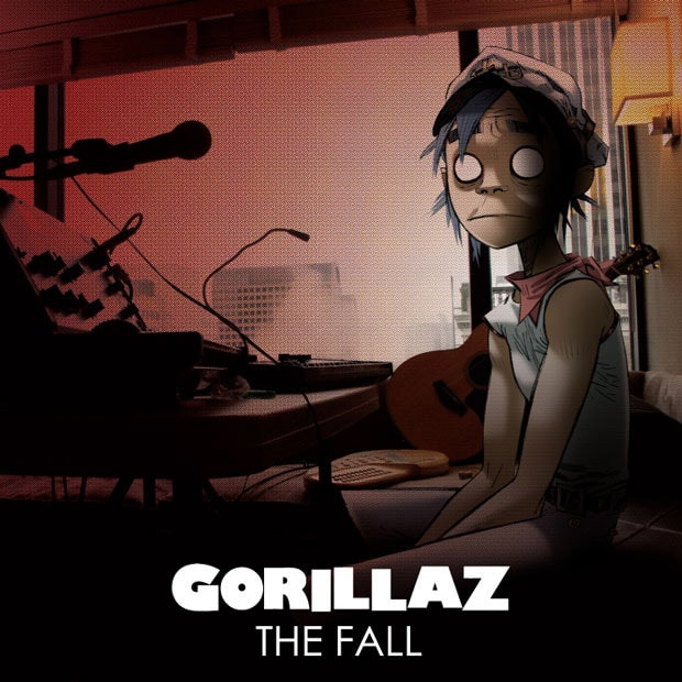 Pochette de l'album The Fall de Gorillaz.